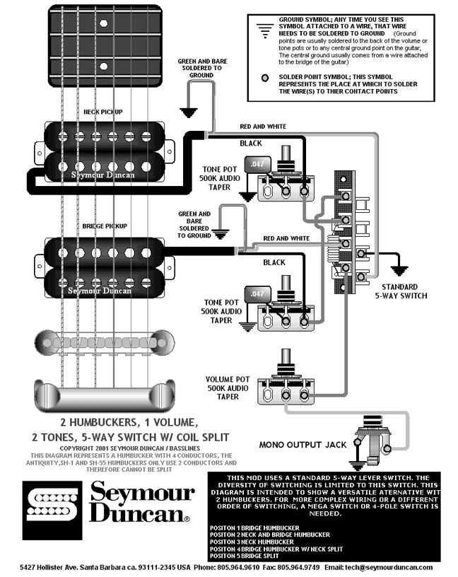 index of a images  two humbucker w 1 volume and 2 tone 5 way switch wiring diagram #45