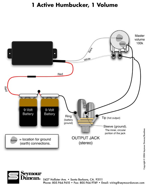 Dual Humbucker Split Wiring Diagram